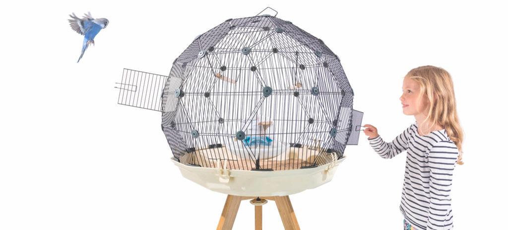 Geo fuglebur passer utmerket som et lyst og luftig hjem for undulater.