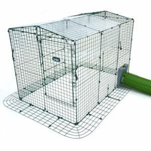 Transparent trekk for Zippi kaningård gir beskyttelse mot vind og regn.