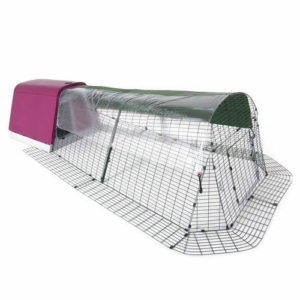 Transparent trekk til Eglu for kaniner og andre smådyr gir beskyttelse mot vind, regn og uvær.