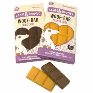 Leaps & Bounds Woof Bar - peanøtt/sjokolade og melkesjokolade fra Omlet