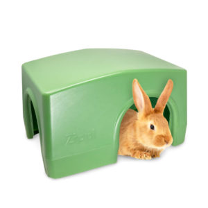 Zippi hus for kanin og marsvin passer perfekt med Zippi-tunnelene fra Omlet for å skape et tunnelsystem med 'rom' de kan gjemme seg i, slik som i det fri.